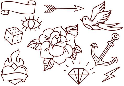 tattoo vector images free old school tattoos vectors download free vector art