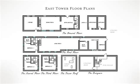 castle house plans with towers castle house plans with towers