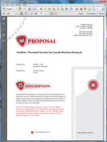 security company profile template security services