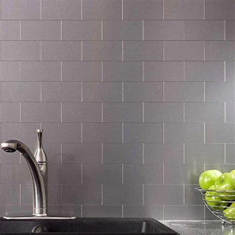 1000 ideas about stainless steel backsplash tiles on
