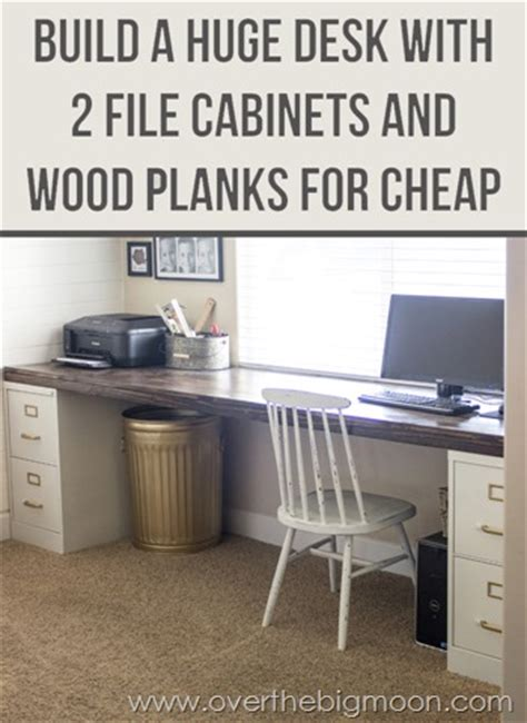 Diy Desk For Two Diy File Cabinet Desk