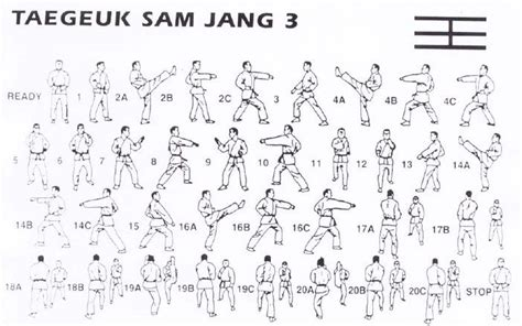 pattern form meaning taegeuk sam jang 20 movements this poomsae is based on