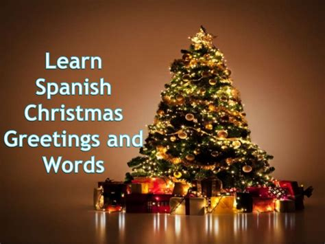 learn spanish christmas   words