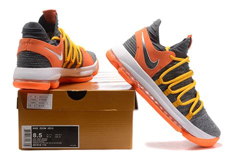 cool basketball shoes for sale 2018 nike kd 10 ep cool grey orange basketball shoes for