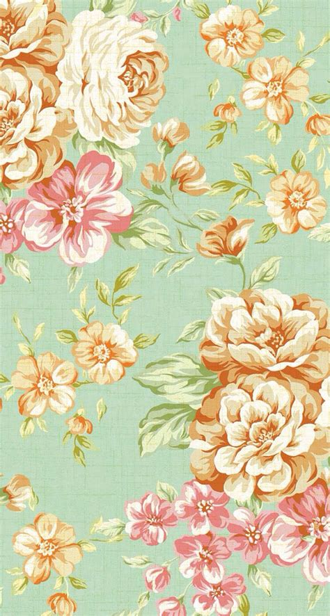 wallpaper vintage flower samsung iphone 5 wallpapers vintage flower print 3 wallpapers