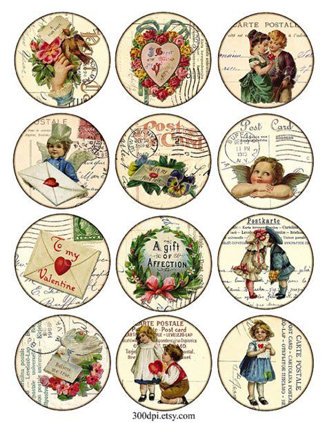 imagenes vintage redondas vintage printable tags digital collage sheet valentine day