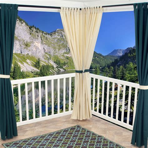 outdoor curtains 108 emerald outdoor curtain with tabs 50 x 108
