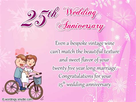 Wedding Anniversary Wishes Or Messages by 25th Wedding Anniversary Wishes Messages And Wordings