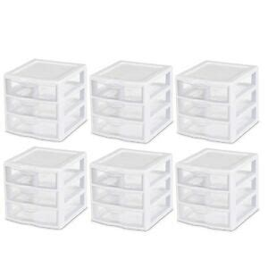 3 drawer small desktop organizer home office bedroom