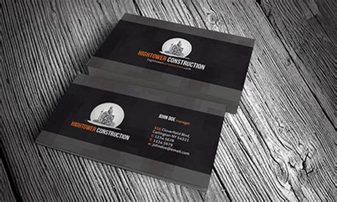 construction business card templates free 45 creative real estate and construction business cards