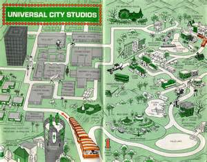 1966 universal studios guide map universal city