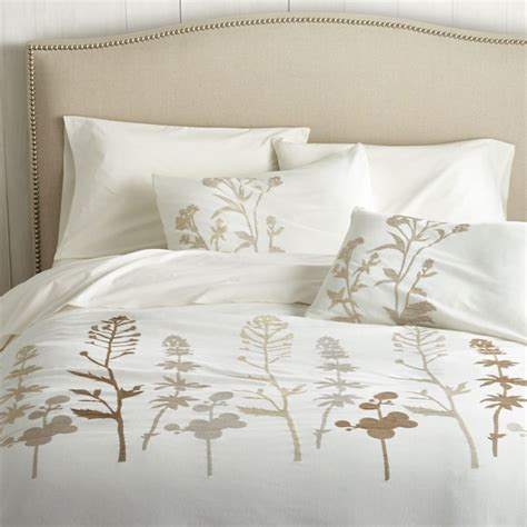 crate and barrel bedding woodland natural full queen duvet cover crate and barrel