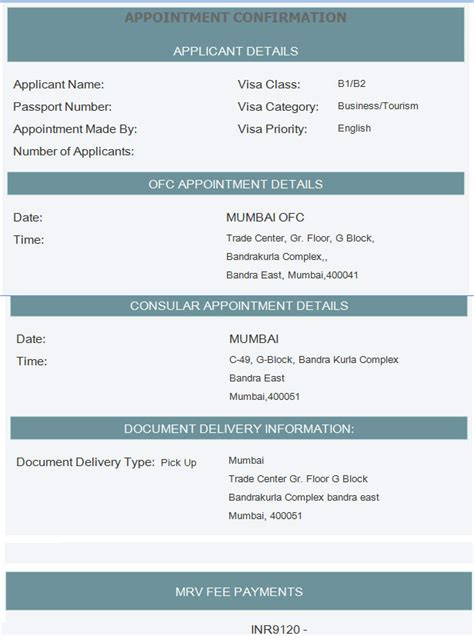Appointment Letter Visa Booking Appointment