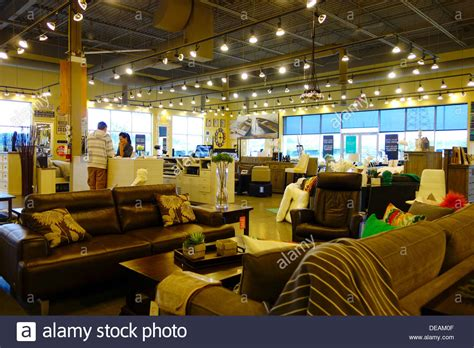 barn furniture store in richmond hill canada stock
