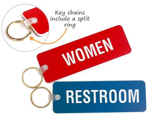 Bathroom Key Rings Engraved Bathroom Key Chains