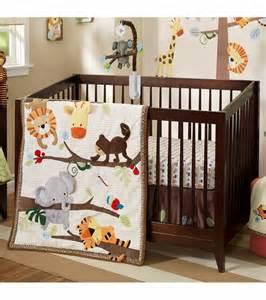 lambs treetop buddies 4 crib bedding set