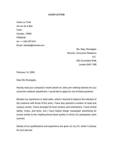 rental application cover letter sle