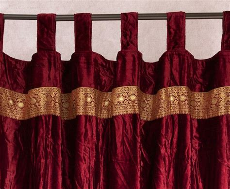 indian curtain velvet embroidered curtains