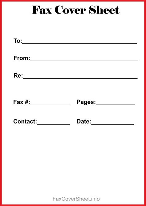 Free Fax Cover Sheet Template Download This Site Provides Templates Of Free Fax Cover Sheet Fax Transmittal Cover Sheet Template