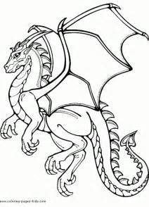 printable flying dragon coloring page fantasy coloring