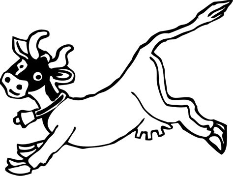 cow jumping coloring page cow jumping cartoon 183 free vector graphic on pixabay
