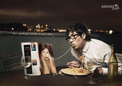 creative l spend no more evenings alone with amour print ad caign