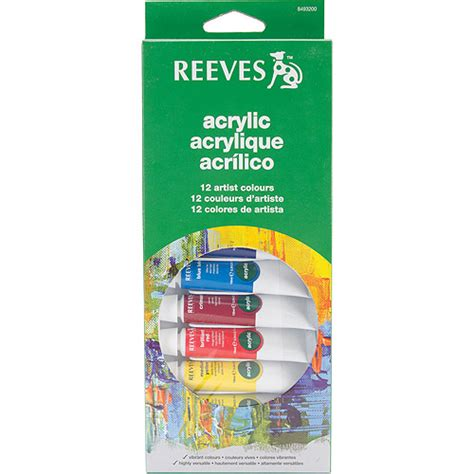 reeves assorted colors acrylic paint set 12pk walmart