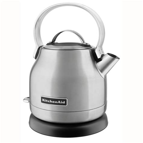 kitchenaid 1 25l electric tea kettle in red stainless
