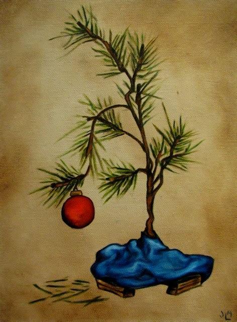 charlie brown style christmas tree ii by thetowermenagerie