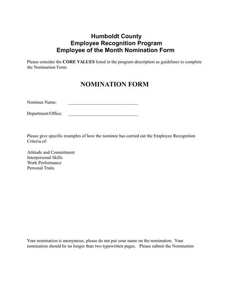 4 employee of the month voting forms word pdf