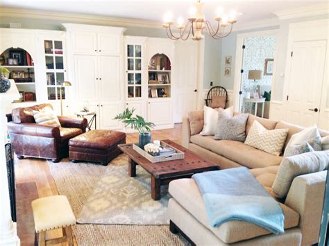 the family room before and after a light and lovely family room makeover