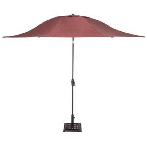 Martha Stewart Patio Umbrellas Martha Stewart Living Palamos 11 Ft Patio Umbrella In Berry Discontinued Bu906 Brs The Home Depot