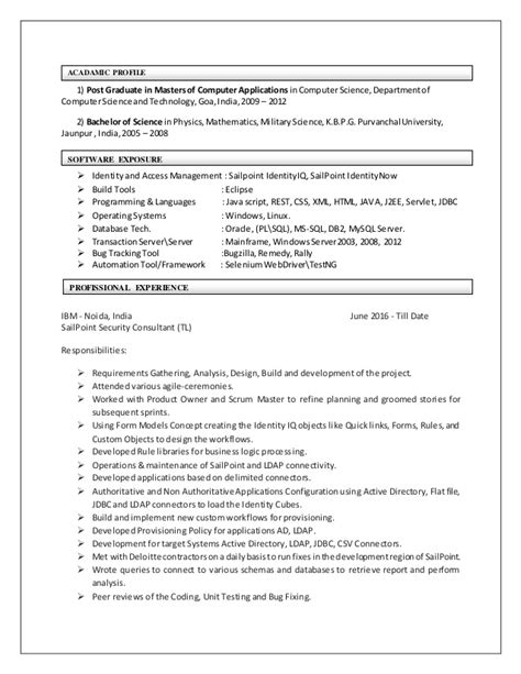 Resume Information Security Ldap J2ee Mi by Ambrish Keshari Resume