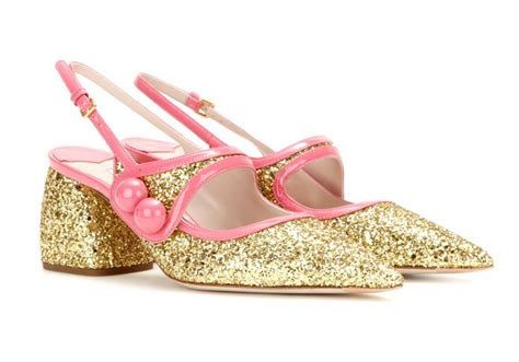 miu miu sparkle sneakers miu miu glitter shoes with pointed toes and low heels