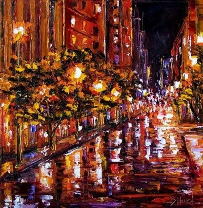 paint nite cities emerico toth new york paintings painting rainy days