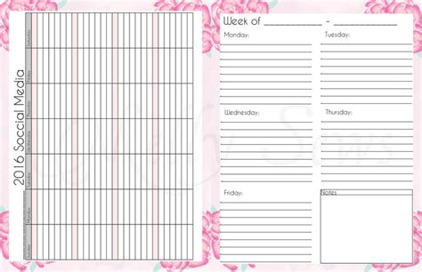 search results for free printable weekly pocket planner