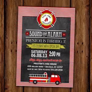 fire truck birthday invitation fire station by scriptivapaper