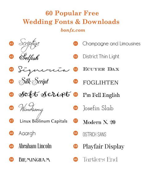 Wedding Invitation Font Pairing by Free Wedding Invitation Font Pairing 100 Images