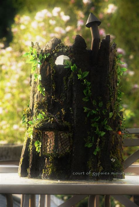 fairy dolls house fantasy fairy tree stump doll house cottage dollhouse for critters tiny bjd 1 12 scale