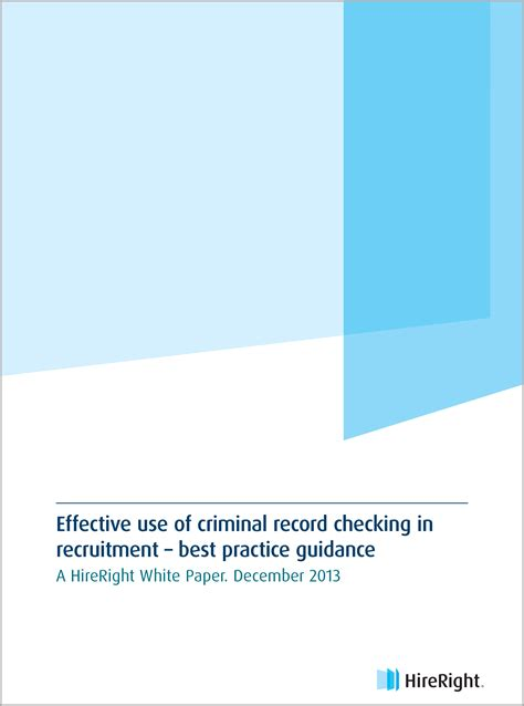 Hireright Criminal Background Check 2013 Emea