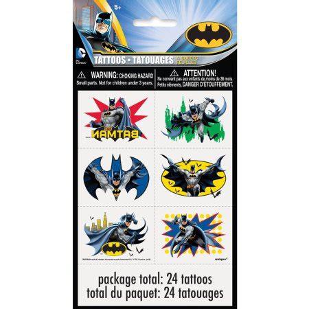 batman tattoo kit batman tattoos 24ct walmart com