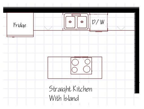 kitchen design with island layout best 25 one wall kitchen ideas on basement
