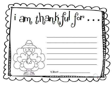 i am thankful for template pre k card for make an quot i am thankful quot list