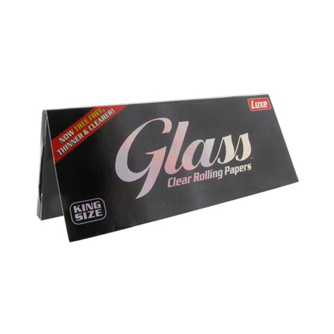 How To Make Rolling Paper - glass king size clear rolling papers glass clear rolling