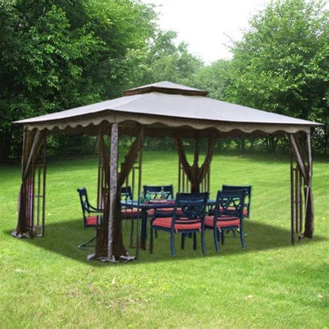 8 X 10 Patio Gazebo 10 X 12 Regency Gazebo Outdoor Garden Canopy Shelter