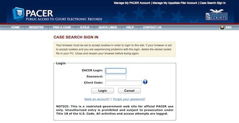 Pacer Gov Search Pacer Login Pacer Gov Search