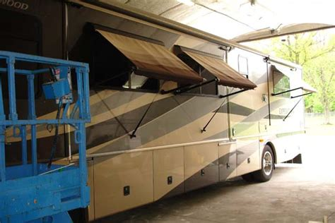 motorhome window awnings rv awning sales and rv awning repair near columbus ohio