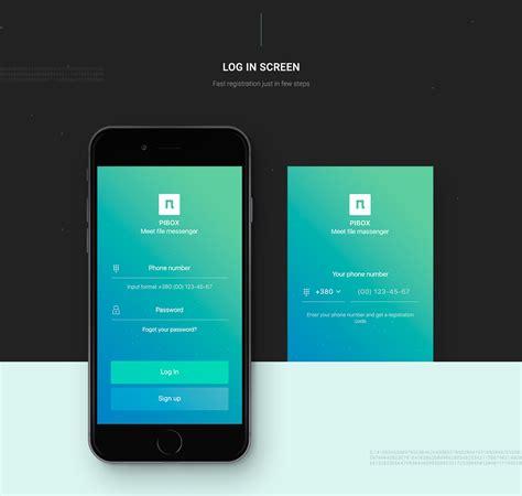 app design served pibox messaging app on app design served