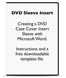 publisher dvd cover template using microsoft word to make a dvd cover sleeve