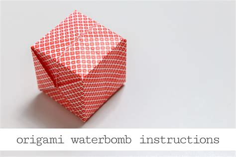 origami water bomb step by step